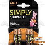 DURACELL SIMPLY MINISTILO AAA BLISTER 4 PEZZI