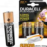 DURACELL PLUS POWER STILO AA BLISTER 4 PEZZI