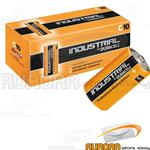 10 BATTERIE DURACELL INDUSTRIAL MEZZA TORCIA C ALCALINE PROCELL 1,5v