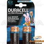 10 Blister - DURACELL MEZZA TORCIA C ULTRA POWER BLISTER 2 PEZZI