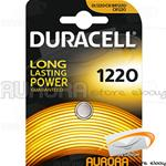 10 BLISTER DURACELL CR 1220 A BOTTONE LITIO 3v
