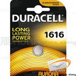 10 BLISTER DURACELL CR 1616 A BOTTONE LITIO 3v
