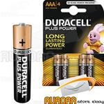 3 Blister - DURACELL PLUS POWER MINISTILO AAA BLISTER 4 PEZZI