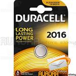 10 BLISTER DURACELL CR 2016 A BOTTONE LITIO 3v