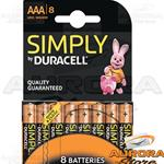 20 Blister - DURACELL SIMPLY MINISTILO AAA BLISTER 8 PEZZI