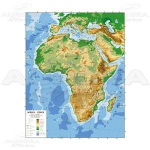 Africa Immagini Cartina.Cartina Geogrifica Africa Bifacciale Fisica Politica 100x140cm
