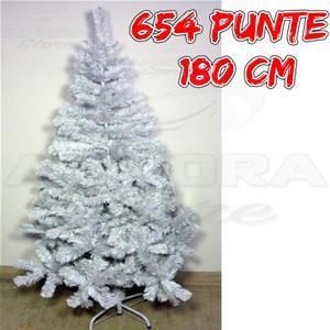 Albero Di Natale Bianco.Albero Di Natale Bianco Artificiale 180 Cm
