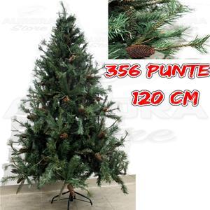 Albero Di Natale 120 Cm.Albero Di Natale Pino Verde Amazzonia 120 Cm Con Pigne Natale