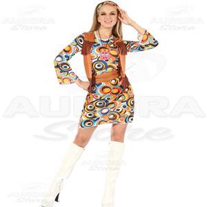 new style db8b2 20d6e Costume Vestito Hippie Donna - Fantasia