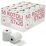 2 Blister - Rotoli Carta Termica 57 mm x 20 mt Blister 10 pz POS