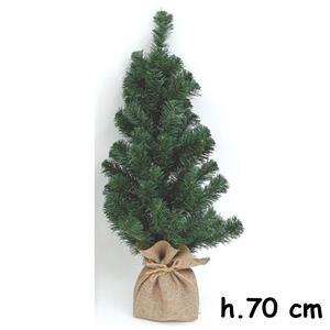 Albero Di Natale 70 Cm.Mini Albero Di Natale Con Sacco In Juta 70 Cm Amaz Natale
