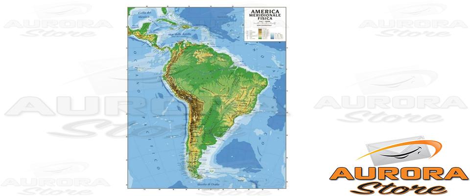 Cartina Fisica America Meridionale.Cartina Geografica America Meridionale Bifacciale Fisica Politica